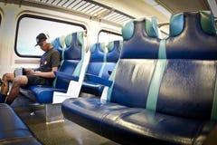 Gioventù sul treno di NYC Immagine Stock Libera da Diritti