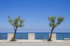 Giovinazzo seafront. Apulia. Royalty Free Stock Image