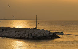 Giovinazzo sunset. Apulia. royalty free stock photography