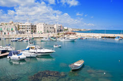 Giovinazzo touristic port. Apulia. Stock Photos