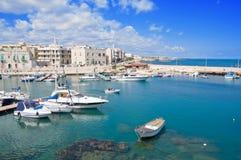 Giovinazzo touristic port. Apulia. stock photos