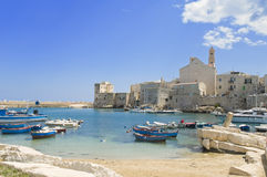 Giovinazzo touristic port. Apulia. royalty free stock images
