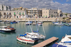 Giovinazzo touristic port. Apulia. Royalty Free Stock Photos