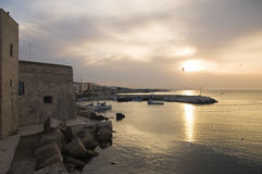 Giovinazzo touristic port. Apulia. Stock Photo