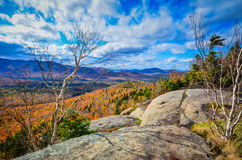 Gipfel-Ansicht von Adirondack-Gebirgszug Stockbild