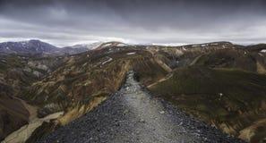 Gipfel bei Landmannalaugar, Island Lizenzfreies Stockbild