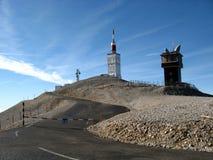 Gipfel der Montierung Ventoux, Vaucluse, Frankreich Stockbild