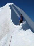 Gipfel des Monch Berges lizenzfreie stockfotos