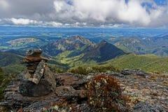 Gipfel des natürlichen Magnets, Nationalpark Kahurangi, Neuseeland stockfotos