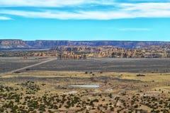 Gipfel-Dorf im New Mexiko Stockfotografie
