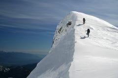 Gipfel ist nahe Stockbild
