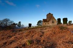 Gipfel-Kirche an der Dämmerung Lizenzfreies Stockbild