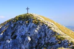 Gipfel-Kreuz Lizenzfreies Stockbild