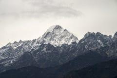 Gipfel Langtang stockfotografie