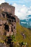 Gipfel Roraima Tepui, Gran Sabana, Venezuela Stockbild