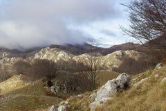 Gipfel von Bergen stockbild