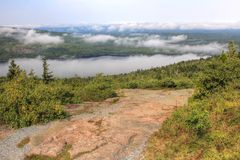 Gipfel von Cadillac-Berg, Acadia-Nationalpark, Maine Stockfotos