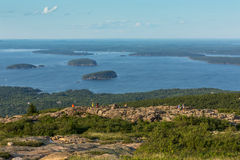 Gipfel von Cadillac-Berg, Acadia-Nationalpark, USA Lizenzfreies Stockfoto