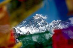 Gipfel von Mt Everest von Gokyo Ri, Sulu Khumbu, Nepal Lizenzfreie Stockfotografie
