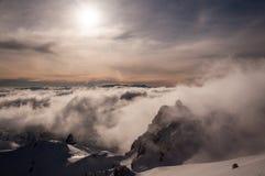 Gipfelansicht Stockfoto