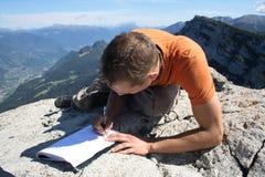 Gipfelbuch Lizenzfreies Stockbild
