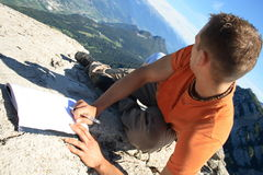 Gipfelbuch Stockbild