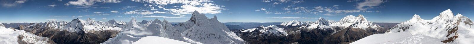 Gipfelpanorama stockbilder
