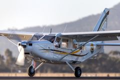 Gippsland Aeronautics GA8 Airvan VH-SXK single engine utility aircraft being used for skydiving operations. Avalon, Victoria, Australia - March 3, 2013 stock photography