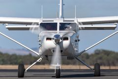Gippsland Aeronautics GA8 Airvan VH-SXK single engine utility aircraft being used for skydiving operations. Avalon, Victoria, Australia - March 3, 2013 royalty free stock photos