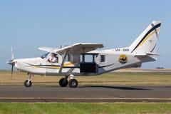 Gippsland aeronautyka GA8 Airvan VH-SXK pojedynczego silnika oszczędnościowy samolot używa dla skydiving operacje fotografia royalty free