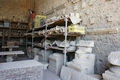 Gips Deadman i Pompeii Arkivfoton