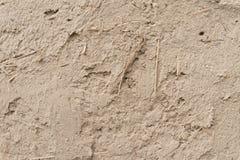 Gips des Lehms und des Strohs Stockfotos