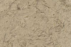 Gips des Lehms und des Strohs Stockbild