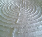 Gips-Labyrinth-Draufsicht-Abschluss oben Lizenzfreies Stockfoto