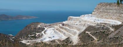 Gips von Paris-Steinbruch, Kreta lizenzfreie stockbilder