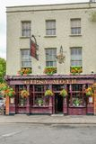Gipsey Moth public house near Cutty Sark in Greenwich. Greenwich, London, Uk - August 18, 2018: Front view of the Gipsey Moth public house in Greenwich stock photos