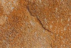Gipsująca pomarańcze ściana z witka punktami zdjęcia royalty free