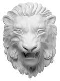gipsuje bareliefów Greckich charaktery lew biały tło Zdjęcie Stock