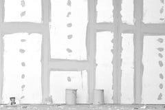 Gipsvägg med skarvar royaltyfri fotografi
