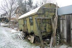 Gipsy caravan. Rusted gipsy caravan in Hungary Stock Images