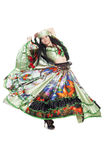 Gipsy dancer. Image of gipsy dancer in traditional dress in motion royalty free stock photos