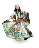Gipsy dancer. Image of gipsy dancer in traditional dress in motion stock photography