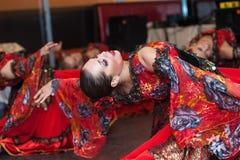 Gipsy dancer. Petersburg performance dance group show flamenco ballet Stock Images