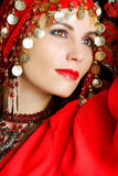 Gipsy dancer closeup portrait Royalty Free Stock Photo