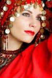 Gipsy dancer closeup portrait Royalty Free Stock Photo