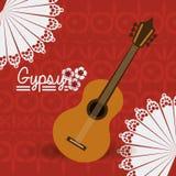 Gipsy design, vector illustration. Royalty Free Stock Image