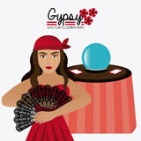Gipsy design, vector illustration. Royalty Free Stock Images
