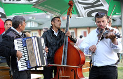 Gipsy music group playing live music Royalty Free Stock Photography