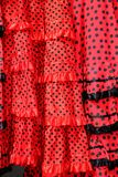 Gipsy red spots dress texture background Royalty Free Stock Photos