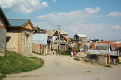 Gipsy village Betlanovce. Gipsy village - Betlanovce is home for quite 2000 people. Most of them live in homes without electricity and drinking water Stock Image